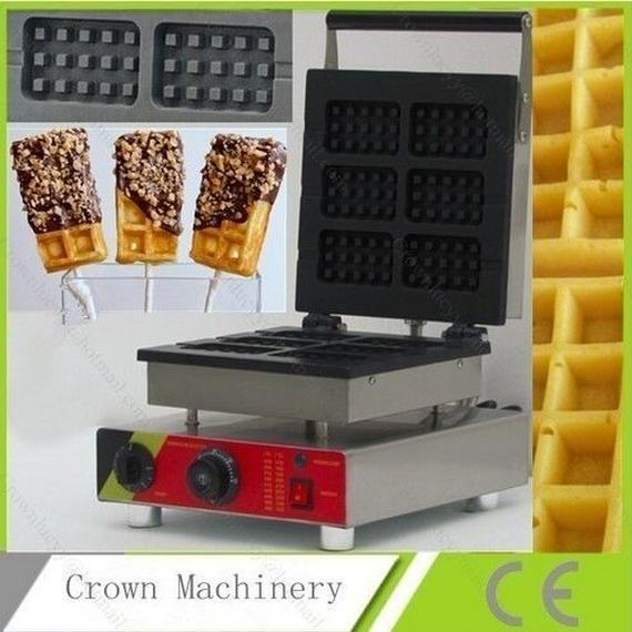 ワッフルメーカー 業務用 スティック型 6個作成可能 110v 電気 チョコレートクリームワッフルスティックメーカー アイアンマシンベイカー