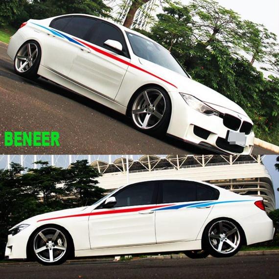 BMW ステッカー 2個入 Mパフォーマンス サイド E30 E34 E36 E39 E46 E53 E60 E70 E71 E85 E87 E90 E91 E92 E83F20 F21