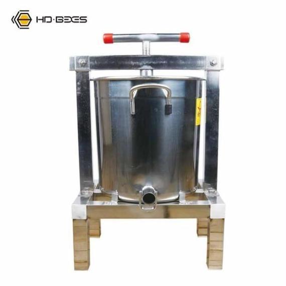 蜂パラフィンワックス押えマシン ステンレス 手動 ワックスプレス機 しぼりきマニュアル 蜂蜜ミツロウ みつろう抽出 絞り機