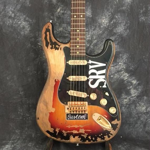 【送料無料】レリック加工済 ヴィンテージ風ギター 39インチ 本体のみ