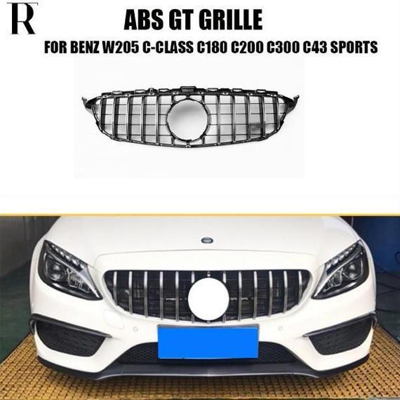ベンツ フロントバンパーグリル ダイヤタイプ デコレーション カバー W205 AMG GTR スタイル マイバッハ クローム 限定
