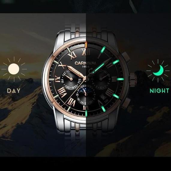 【5色】メンズ腕時計 海外高級ブランド トリチウムT25発光 Carnival ミリタリー仕様 自動巻 機械式 サファイアフルスチール 防水