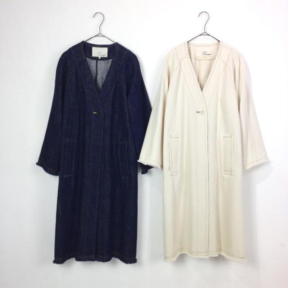 [T.yamai paris]裾フリンジデニムジャケット