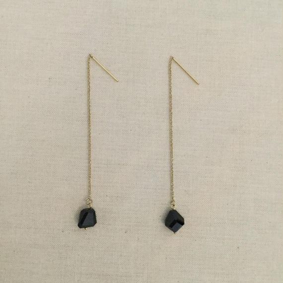 [Fision]耳飾り/ブラックスピネル