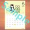 【A4】星座カレンダー5月(新月、満月マーク付)
