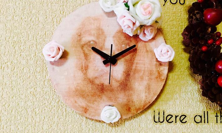木製時計(デコパージュorレザー)
