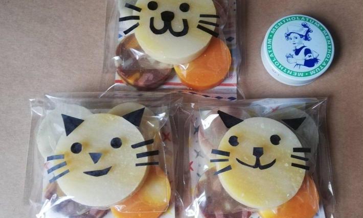 猫デザイン雑貨石鹸【yucco】