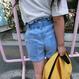 kids★hi west denim short pants