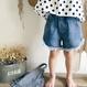 kids★fringe denim short pants