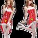 クリスマス サンタ コスプレ コスチューム ワンピース 衣装 レディース ふわふわ レッド
