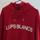 『LOUPS BLANCS』Logo Half Zip-up Turtle Neck HOOD (Red)