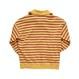 『Motivestreet』STRIPE HALF ZIPUP SWEAT SHIRT (Mustard)