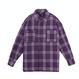 BY.L RETRO OVER CHECK シャツ (Purple)
