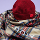 Motivestreet  BEANIE + CHECK MUFFLER SET