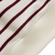『Motivestreet』STRIPE HALF ZIPUP SWEAT SHIRT (Ivory)