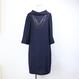 FIGNOロールカラー七分袖ドレス