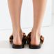 Fur leopard sandals
