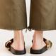 Fur camouflage sandals
