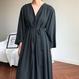 v-neck long dress/vネック ロングドレス ワンピース
