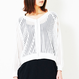 271632001 Sheer Striped Blouson