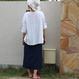 ひとりっ子のラップ巻きスカート【ネイビー】
