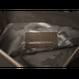 ARUMO クラッチバッグ / グレーキャンバス x グレーレザー