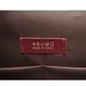 ARUMO レザーショルダーバッグ / バーガンディ