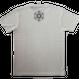 【Tシャツ】フラワー・オブ・ライフ6 麻生地 麻炭インク100%  Mサイズ