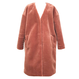 Eco Fur Coat (Terracotta)