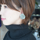 nood / housekiピアス&イヤリング  クリアユーカリ Clear based earrings