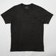 USAコットン16/-吊り編み天竺×遠州墨染めポケットTシャツ SUMI