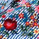 【即納OK!!】フラワー刺繍ロンドンストライプシャツブラウス