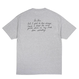 BUTTER  GOODS TROUBLE IN MIND TEE (HEATHER GREY, BLACK, WHITE)