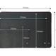 Leather deskpad A4  - SIZE B :330mm  ×240mm ×2mm