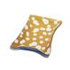 まるあ柄  リバーシブル 革トレイ (L) CAMEL×白×blue