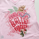 V-NECK T-SHIRT   'STRAWBERRY BALLET'(本体価格:¥4,800)