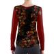 Rose and Butterfly long sleeve T-shirt