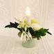 鞠花 B11〈火を使わないロウソク付き〉花器 薄翡翠色