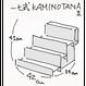一七式簡易紙製什器 KAMINOTANAⅡセット(キャリーケース+棚2個)