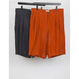 MAINTENANT : NATURAL DYED CUT-OFF WIDE TUCK SHORTS
