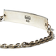 hobo : 925 Silver Plate Chain Bracelet with H Brass Plate