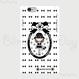 【HD005】ハードケース:カメリアおリボン枠 お帽子COCOちゃん 白×黒おリボン