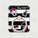 【SR001】スマホリング アイテム 黒白ボーダー