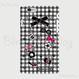【HD012】ハードケース:アイテム 黒白チェック&BLING COCO