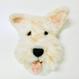 Tongue Stick Out DOG 舌出し犬(ブローチ・お面・オブジェ)/ のそ子