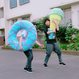 Big   Knit Donut ビッグドーナツ  [ Water Blue × Pink] NO.2/203gow