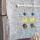 3色マルチピアス(青メノウ、イエローメノウ、スモーキークォーツ)