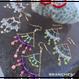 ウミタケ珊瑚と淡水パールのシャンデリアピアス