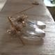 水晶の花束ピアス