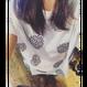 小花刺繍Tシャツ(白)
